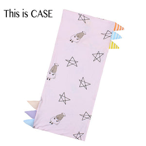 Bed-Time Buddy Case Big Star & Sheepz Pink with Color & Stripe tag - Medium