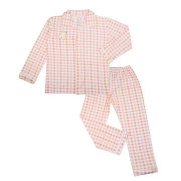 Pyjamas Set Collar Orange Checkers