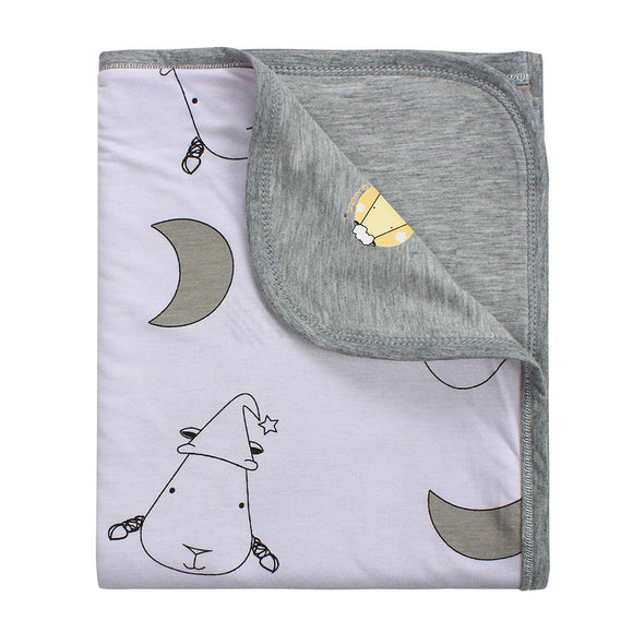 Double Layer Blanket Big Moon & Sheepz Pink