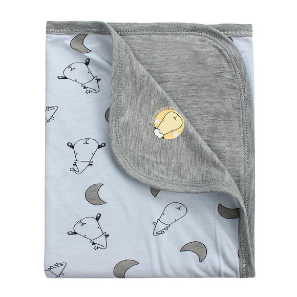 Double Layer Blanket Small Moon & Sheepz Blue
