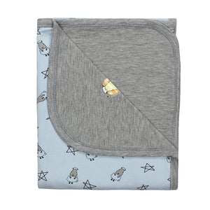 Double Layer Blanket Small Star & Sheepz Blue Large