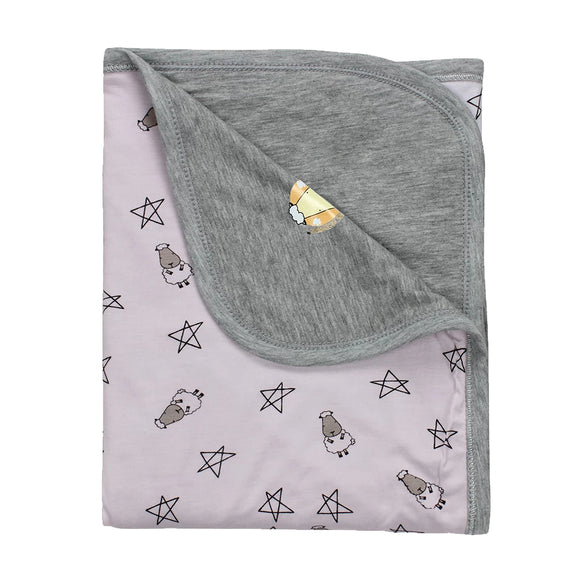 Double Layer Blanket Small Star & Sheepz Pink Large
