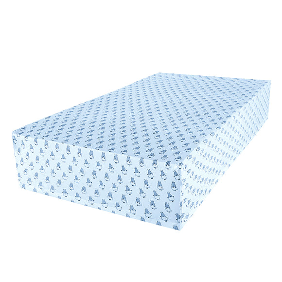 Mattress Sheet Small Sheep Blue