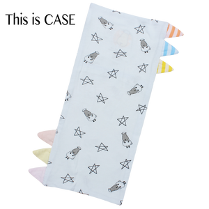 Bed-Time Buddy Case Small Star & Sheepz Blue with Color & Stripe tag - Medium