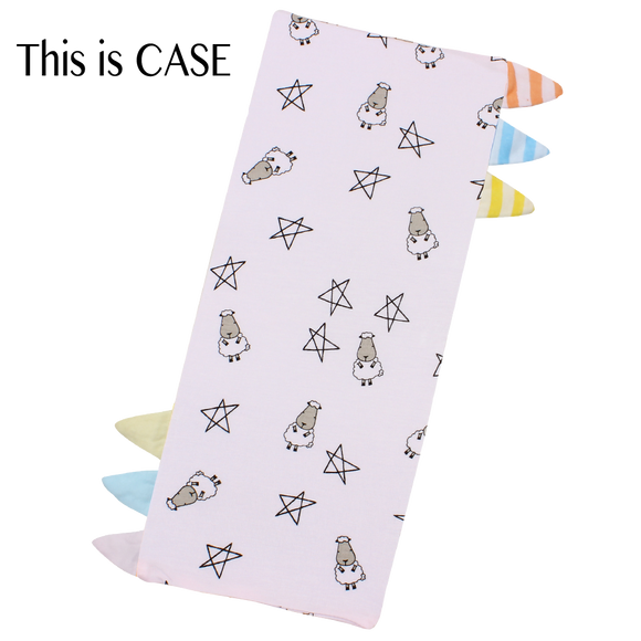 Bed-Time Buddy Case Small Star & Sheepz Pink with Color & Stripe tag - Medium