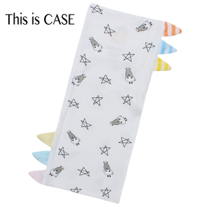 Bed-Time Buddy Case Small Star & Sheepz White with Color & Stripe tag - Medium