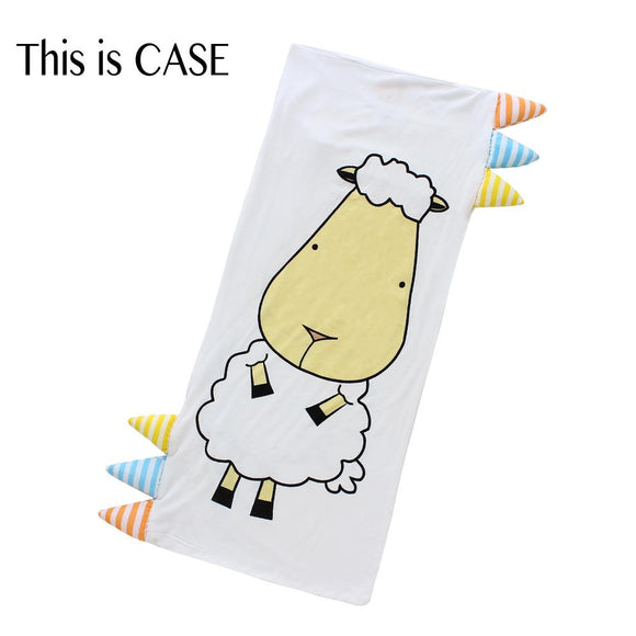 Bed-Time Buddy™ Case Front & Back Sheepz White with Stripe tag - Medium