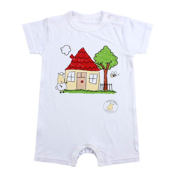 LIMITED EDITION - Romper Short Sleeve My Home White
