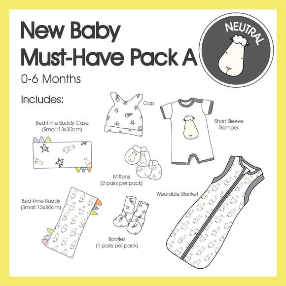 New Baby Must-Have Pack A (Neutral Colour)