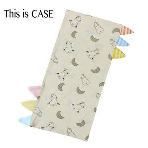 Bed-Time Buddy Case Small Moon & Sheepz Yellow with Color & Stripe tag - Medium