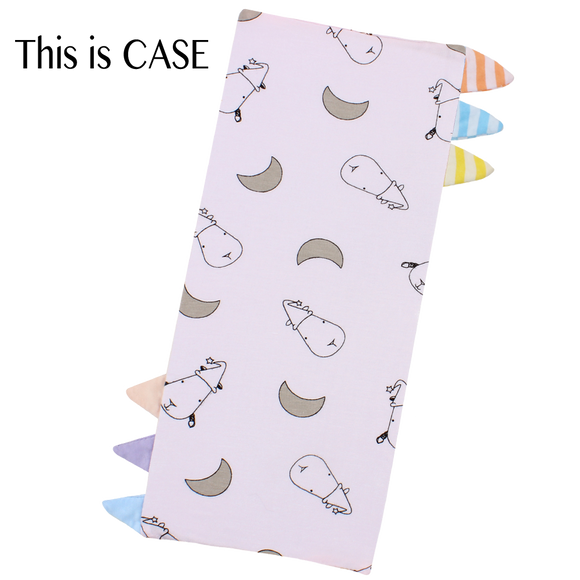 Bed-Time Buddy Case Small Moon & Sheepz Pink with Color & Stripe tag - Small