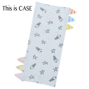 Bed-Time Buddy Case Small Star & Sheepz Blue with Color & Stripe tag - Small