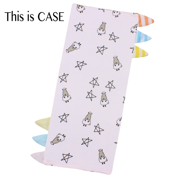Bed-Time Buddy Case Small Star & Sheepz Pink with Color & Stripe tag - Small
