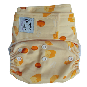 Cloth Diaper One Size Aplix - Bread