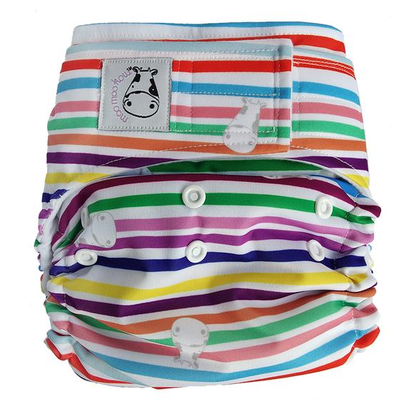 Cloth Diaper One Size Aplix - Rainbow
