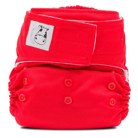 Cloth Diaper One Size Aplix - Red
