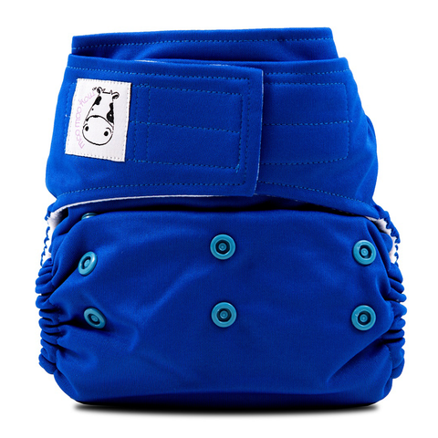 MooMooKow Cloth Diaper One Size Aplix - Royal Blue