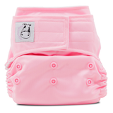 MooMooKow Cloth Diaper One Size Aplix - Sweet Pink