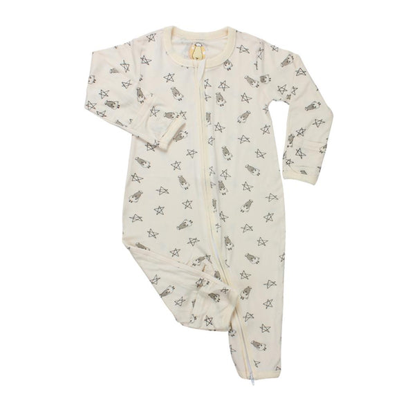 Romper Zip Small Sheepz & Stars Yellow