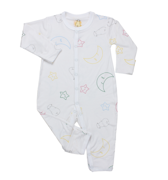 Romper White Colour Moon & Star