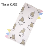 Bed-Time Buddy Case White Big Sheepz with color tag Medium size
