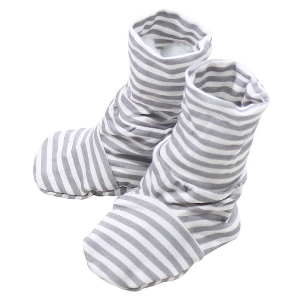 BaaBaaSheepz Bamboo Booties Grey Stripe