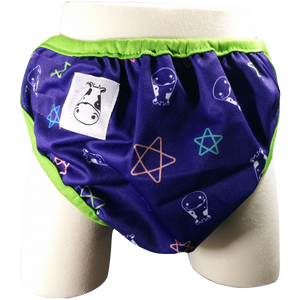 One Size Swim Diaper Color Star with Green Border