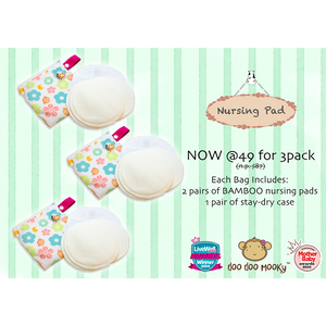 Doo Doo Mooky Bamboo Nursing Pads Bundle of 3