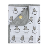 Double Layer Blanket Big Sheepz White Kids