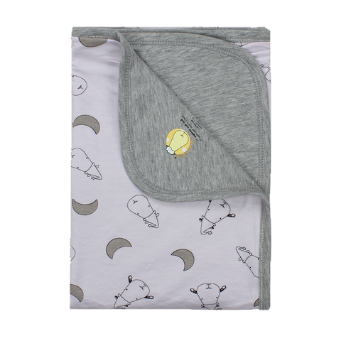 Double Layer Blanket Pink Small Moon & Sheepz