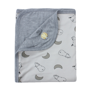 Double Layer Blanket Small Moon & Sheepz Yellow