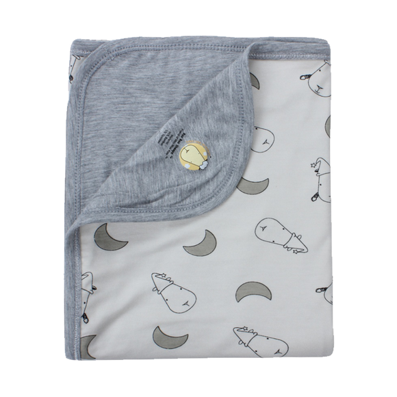 Double Layer Blanket Yellow Small Moon & Sheepz