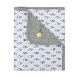 BaaBaaSheepz Bamboo Double Layer Blanket White Small Sheepz