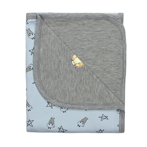Double Layer Blanket Small Star & Sheepz Blue