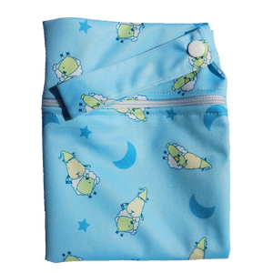Wet Bag Large - BaaBaaSheepz Blue