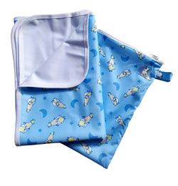 MooMooKow Changing Pad Large - BaaBaaSheepz Blue