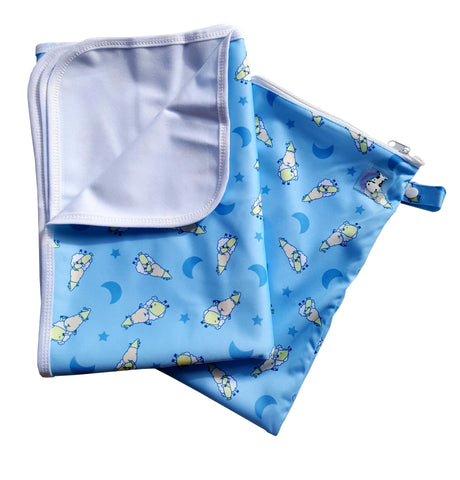MooMooKow Changing Pad Large BaaBaaSheepz Blue