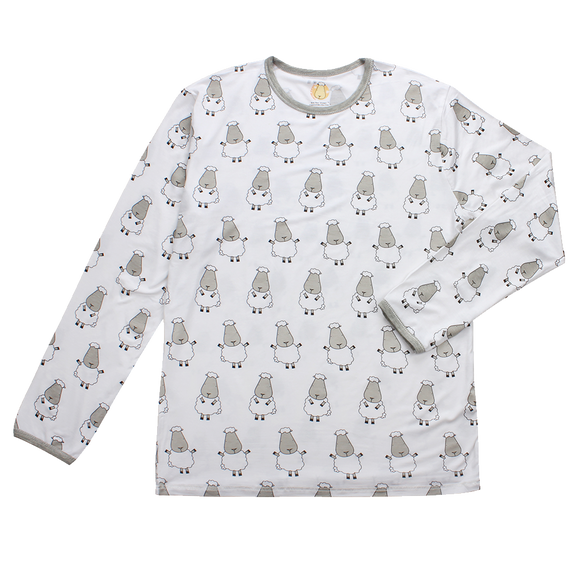 Unisex Long Sleeve Shirt Big Sheepz White