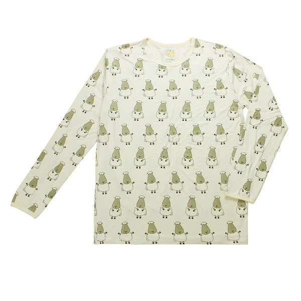 BaaBaaSheepz Bamboo Unisex Long Sleeve Shirt Yellow Big Sheepz