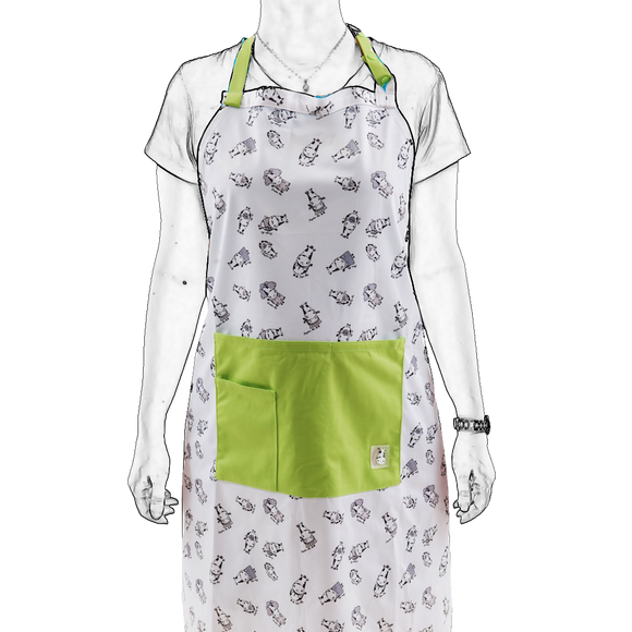 Bath Time Apron - Moo Family
