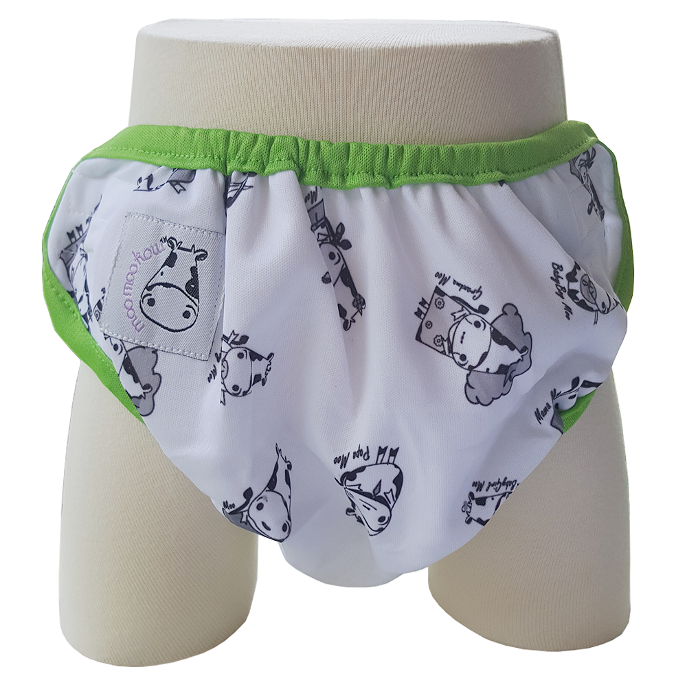 4be7f27613b One Size Swim Diaper Moo Family with Green Border – Babe Hause