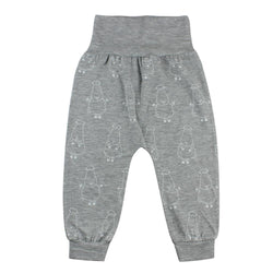 BaaBaaSheepz Bamboo Long Pant foldable waist Grey Big Sheepz
