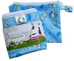 MooMooKow Changing Pad Travel Size - BaaBaaSheepz Blue