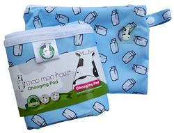 MooMooKow Changing Pad Travel Size - Milk Cartons