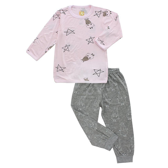 Pyjamas Set Big Star & Sheepz Pink + Big Sheepz Grey