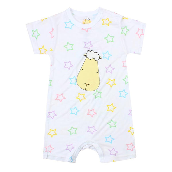 BaaBaaSheepz Bamboo Romper Short Sleeve Colourful Star
