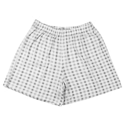 BaaBaaSheepz Bamboo Women Short Pants Grey Checkers S size