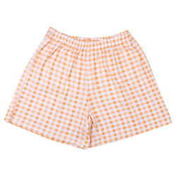 BaaBaaSheepz Bamboo Women Short Pants Orange Checkers L size