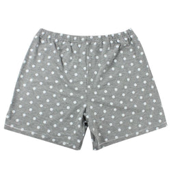 Women Short Grey Polka Dot