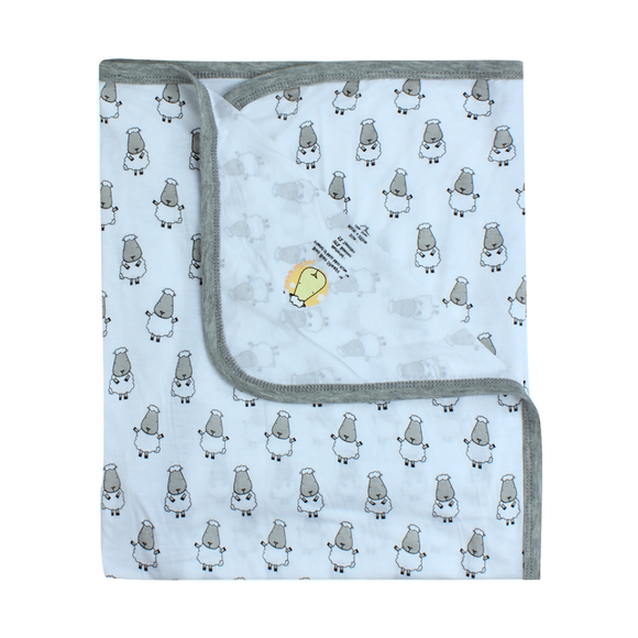Single Layer Blanket Small Sheepz Blue